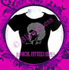 Soul Sister - CLEAR - Rhinestone Iron on T-Shirt - Bling Afro Lady Girl Top