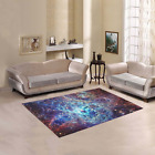 Modern Home Galaxy Space Universe Area Rug Cover Carpet Cover
