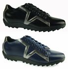 Versace Collection LOGO Men's shoes Fashion Sneakers Leather 100% AUTHENTIC