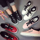 Fashion Girl's Flat Plate Shoes Casual Women's Lace-up Sneakers Trainer Shoes