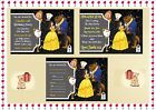 Beauty and The Beast Birthday Party Invitations / Thank you Cards X10 +Env