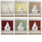 """Half panama LINED Ring Top / Eyelet CLEARANCE Curtains 90x90"""" 6 Colours To CLEAR"""