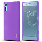 J&D Sony Xperia XZs [Slim Cushion] Jelly Protective Cover Case