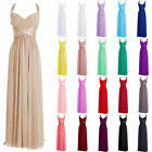 Stock New Long Chiffon Evening Formal Party Ball Gown Prom Bridesmaid Dress 6-22