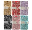 Crystal Diamond Rhinestone Flip Wallet Case For LG Aristo MS210/ K8,US215/LV3