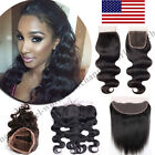 Pre Plucked Frontal Lace Closure 7A 100% Virgin Human Hair Baby Hair 4x4 US B311