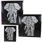 "Photo Album - Occasion - Black ""Elephant"" Design - Choose Size"