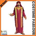 Mens Arabian Aladdin Sultan Bollywood Wise Men Fancy Dress Costume All Sizes