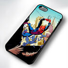 SPIDERMAN BIRDS RUBBER PHONE CASE COVER FITS IPHONE 4 5 6 7 (#BR)