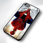 HANGING SPIDERMAN RUBBER PHONE CASE COVER FITS IPHONE 4 5 6 7 (#BR)