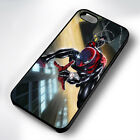SPIDERMAN SCALING BUILDING RUBBER PHONE CASE COVER FITS IPHONE 4 5 6 7 (#BR)