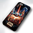 STAR WARS TI-FIGHTER ART RUBBER PHONE CASE COVER FITS IPHONE 4 5 6 7 (#BR)