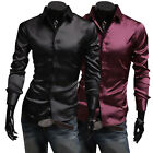 Fashion Men Luxury Casual Stylish Slim Fit Long Sleeve Casual Dress Shirts Gift