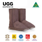 100% Australian Made 3/4 UGG Boots Chocolate, Short Classic, Premium Sheepskin