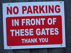 Parking Signs - Choices - Rigid A3 approx - Private Property, No public Access