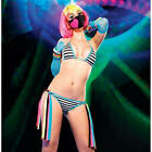 Leg Avenue Clubwear Dancerwear Striped Bikini Set