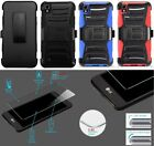 [NP ARMOR] Tempered GLASS Screen Protector + Holster Case For LG X Power / K450