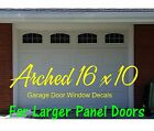 Large Arched Vinyl Garage Door Faux Window Decal Kit - For 16 x 10 Panels