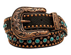 Belt Nocona Black Turquoise Studed