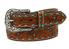Belt Nocona Tan Turquoise Embossed