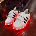 Boy Girl Child Baby USB Charger Luminous LED Lights Lace UP Casual Sneaker Shoes