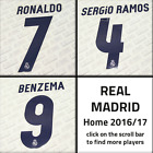 Real Madrid 2016-17 home, Sporting-ID official printings, name sets