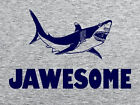 JAWSOME T-SHIRT Funny Mens Womens Kids JAWS Great White Shark Tooth T-SHIRT Tee