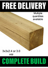 Natural Green Treated Timber Wooden Fence Posts 3