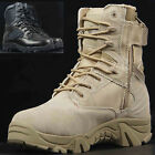 Durable Tactical Military Ankle Boots Mens Comfort Leather Hiking Combat Shoes