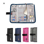 Cables Earphones Tool USB Card Pens Organizer Roll Up Bag Travel Carry Acces Bag