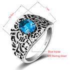 Ring 925 Solid Sterling Silver Victorian Style Hand made Gemstone Fine Jewelry