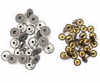 14mm Jeans Buttons Gunmetal Replacement Metal Jackets with W/O Hand Tool JB44