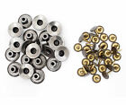 17mm Jeans Buttons Silver  Metal Repair Replacement Coat with W/O Hand Tool JB46