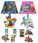 Official PAW PATROL or BLAZE Bedside Lamp Kids Bedroom LED Light Birthday Gift