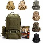 Travel Canvas Backpack Outdoor Detachable Sports Hiking Rucksack Combination Bag