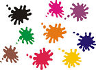 42x Paint Splat Stickers Pack - car bike wall art windows vehicles graphic/decal
