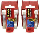 Scotch Heavy Duty Shipping Packing Tape Clear Rolls Dispenser Hold Moving Box US photo