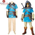 Zelda Breath of the Wild Link Costume Cosplay Cloak Halloween