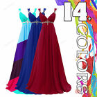 Long Chiffon Empire Formal Gown Wedding Evening Prom Party Bridesmaid Dresses