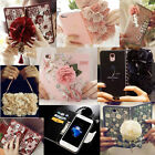 Book Style Flower Series Wallet Flip Leather Case Cover Pouch Handbag For Phones