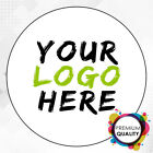 LOGO Printed Round Stickers - Custom Logo labels - postage labels -Personalised  <br/> Most popular