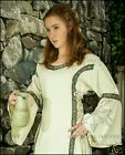 Early Medieval Dress (Linen Colour Cloth) Female Costume Small Medium Large A48