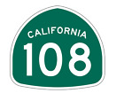 California State Route 108 Sticker Decal R1185 Highway Sign