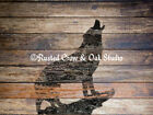 Rustic Wolf Animal Wood Country Home Decor Farmhouse Art Matted Picture Usa A383