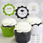 Personalized Graduation Cupcake Wrappers Wraps Toppers Signs Party Decorations