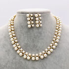UK Women Jewelry Choker Chunky Collar Statement Bib Necklace Chain Pendent Set
