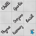 Herbs & Spices Vinyl Wall Tile Transfer Stickers Decals Kitchen Home Decor