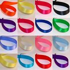 "QUALITY SATIN RIBBON DOUBLE SIDED CRAFTS CUT 7/8"" 22mm x 5 metres FREE POSTAGE"
