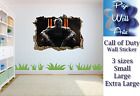 Call of Duty wall Sticker 3D Effect Hole in wall Kids Bedroom wall decal.
