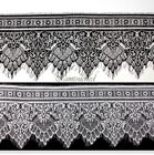 Embroidered Lace Trim Delicate Black White Eyelash Edge Applique Sewing Cloth